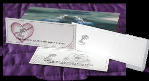 Dolfijnen kaartjes | regenboog kristal